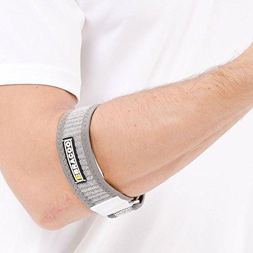 Premium Ellenbogenbandage für Damen und Herren - Entlastung bei Tennisarm und Golferarm mit EVA-Pad-Kompressionskissen, Einheitsgröße, ergonomische Tennisarm-Bandage von Bracoo