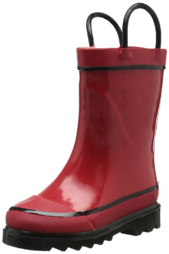 - Western Chief Kids Waterproof Rubber Classic Rain Boot with Pull Handles, Red, 11 M US Little Kid