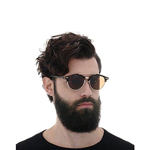 para de Oscuro hombre Marron sol Gafas AMZTM YxtqF4x