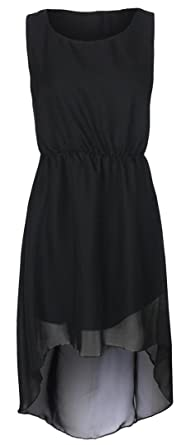 5f0cbc1e91f0 Image Unavailable. Image not available for. Color: New Womens Dip Hem  Chiffon Maxi Dress ...