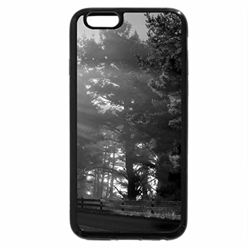 iPhone 6S Plus Case, iPhone 6 Plus Case (Black & White) - AUTUMN SUNBURST