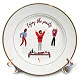 3dRose Alexis Design - Inspirational - People at The Party. A Text Enjoy The Party. Positive Design - 8 inch Porcelain Plate (cp_292948_1)