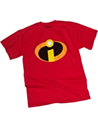 Disney The Incredibles Basicon Adult Red T-Shirt