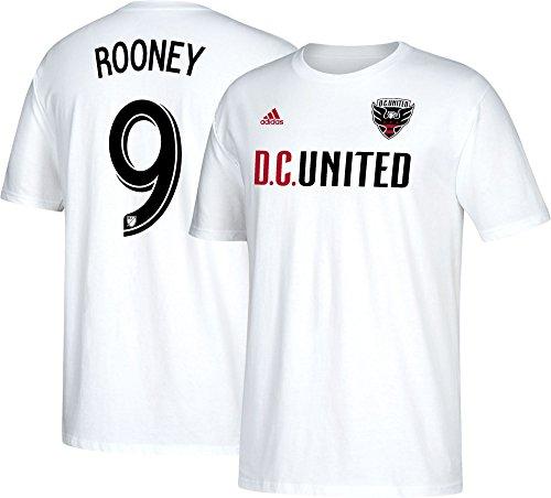 (adidas Wayne Rooney D.C. United Men's White Name and Number T-Shirt X-Large)