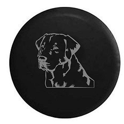 (Stealth - Lab Labrador Retriever Gun Dog Lover K9 Jeep Spare Tire Cover Vinyl Black 29 in)