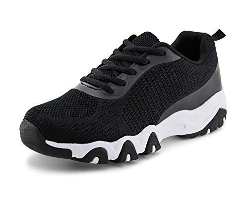JABASIC Women Breathable Running Tennis Sneakers Lightweight Knit Sport Shoes