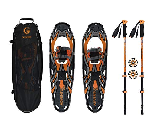 Go2gether Snowshoes Kit Adult (30 inches, Optimized Weight Range up to 250lb)