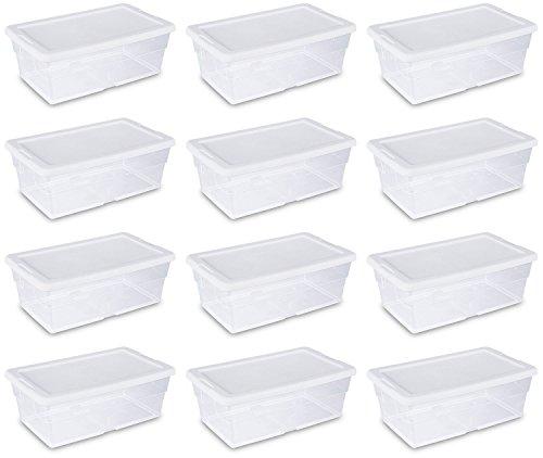 Sterilite 16428012 Quart Storage 36 Boxes