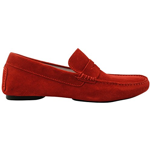 Exclusif Paris, Herren Slipper & Mokassins  rot rot