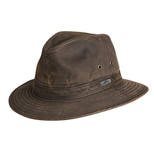 Indy Jones Mens Water Resistant Cotton Hat Brown Small ()