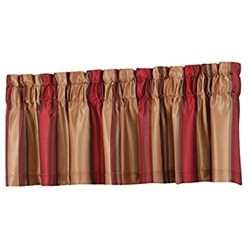 Amazon.com: Allen + Roth 18 In L Red Alison Tailored Valance: Home U0026 Kitchen Part 50