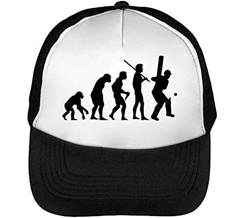 Human Evolution Crickett Gorras Hombre Snapback Beisbol Negro Blanco