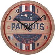 FOCO NFL Team Wood Barrel Clock Team Colors