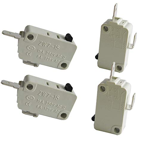 - TWTADE/4Pcs Universal Microwave Oven Door Micro Switch for DR52 NC (Normally Close) 16A 125/250V ZW7-15-W/NC
