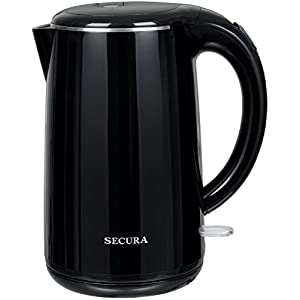 Secura The Original Stainless Steel Double Wall Electric Water Kettle 1.8 Quart