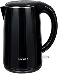 Secura SWK-1701DB The Original Stainless Steel Double Wall Electric Water Kettle 1.8 Quart