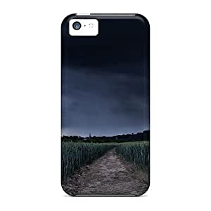 Tpu Case For Iphone 5c With Storm Arriving Over A Young Wheat Field