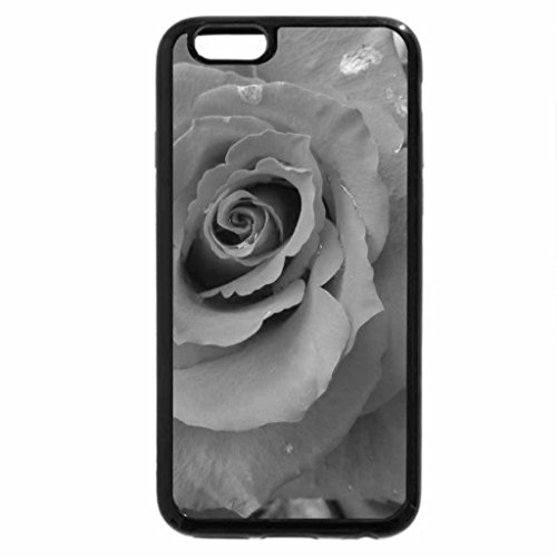 iPhone 6S Plus Case, iPhone 6 Plus Case (Black & White) - Dewdrop Petals