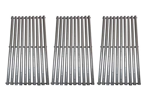 BBQration (3-Pack Stainless Steel Cooking Grid Replacement for Charbroil, Kenmore, Centro,Broil King,Costco Kirkland,K Mart,Master Chef Gas Grill,(16-15/16