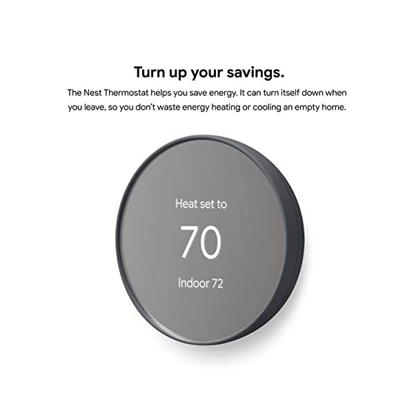 Google G4CVZ Nest Thermostat - Smart Thermostat for Home - Programmable Wifi Thermostat - Charcoal 2