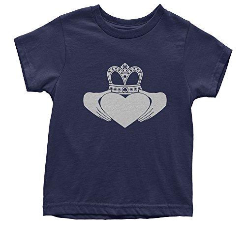 - FerociTees Youth Irish Claddagh St Patricks Day T-Shirt Small Navy Blue