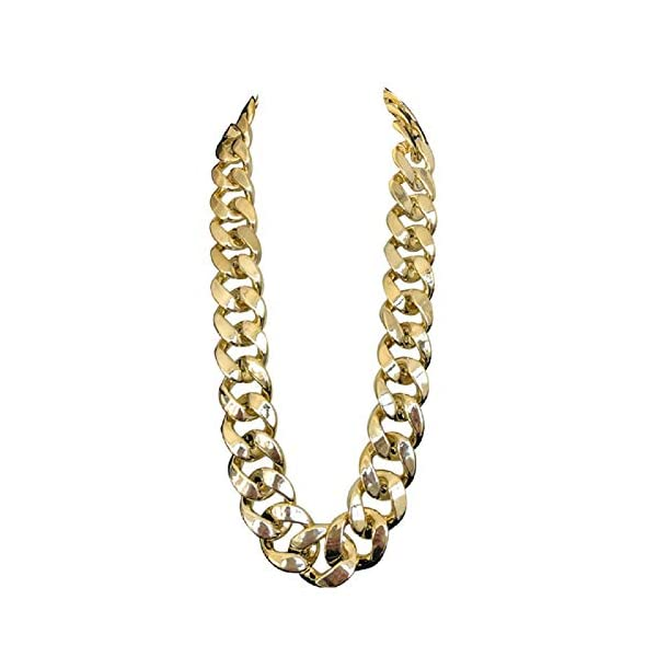 "JIL Big Chunky Hip Hop Chain Necklace,32"",36"" 1"