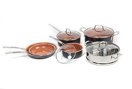 marelight titanio 10 piezas cobre cacerola paquete y juego de ollas ...