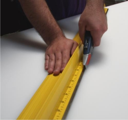 Osburn - 52'' Safety Ruler - Ultimate Steel Safety Cutting Ruler
