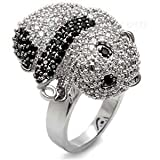 Cubic Zirconia Baby Panda Pave Ring