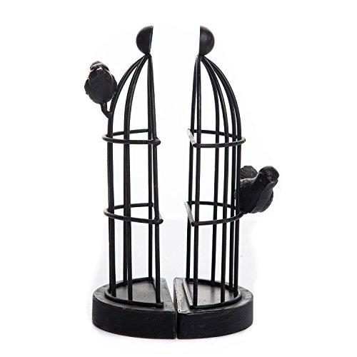 Foreside Home & Garden FDAD04832 Bird Bookends (Set of 2), Black from Foreside Home and Garden