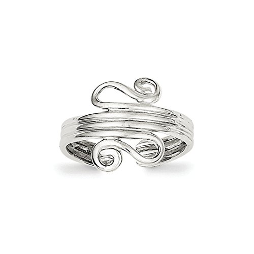 ICE CARATS 925 Sterling Silver Scroll Adjustable Cute Toe Ring Set Fine Jewelry Ideal Mothers Day Gifts For Mom Women Gift Set From Heart (Ring Sterling Silver Scroll Toe)