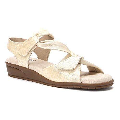 Culle Piedi Delle Donne Valerie T-strap Osso Sandalo Gator Stampa