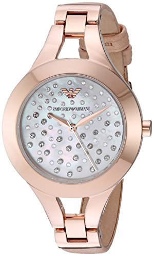 Emporio Armani Women's AR7437 Dress Nude Leather Quartz Watch