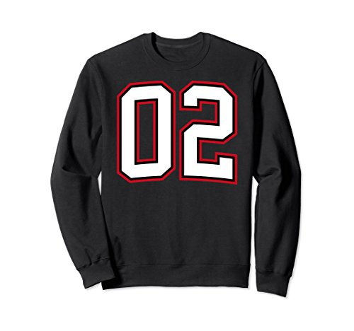 Unisex Number Two 2 Sweatshirt 2XL Black