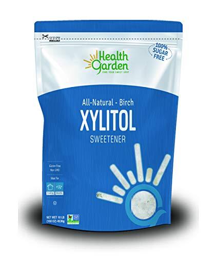 Health Garden Birch Xylitol Sweetener - Non GMO - Kosher - Made in the U.S.A. - Keto Friendly (10 lbs)