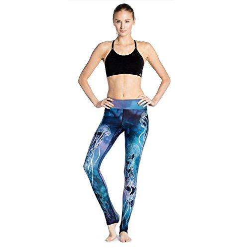YHHBA pantalones de yoga de las señoras de la cadera delgada sudar-absorbente respirable ejercicio del estiramiento de la aptitud de las bragas 3