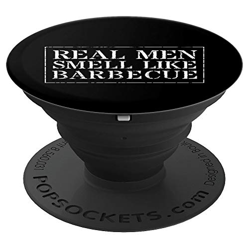 Funny BBQ Grilling Gift Phone Holder Knob - PopSockets Grip and Stand for Phones and Tablets ()
