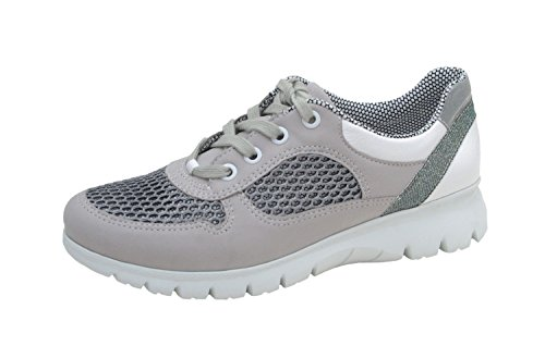 40 YORK Gr 30026 07 5 Removable 37 silver ladies cristal ara sneaker leather to silber NEW 12 5 4zFOwqx