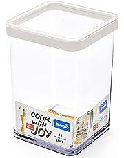 Rotho Loft pojemnik na zapasy 0,5 l, tworzywo sztuczne (nie zawiera BPA), przezroczysty/biały