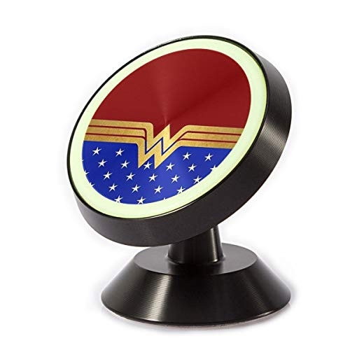 Magnetic Car Phone Holder Stylish Wonder Woman (2) 360 Degree Rotating Stand Grip Mount Suit for Any Phone iPhone]()