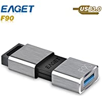 Eaget F90 USB 3.0 High Speed Capless USB Flash Drive,Water Resistant Pen Drive,Shock Resistant Thumb Drive,64GB