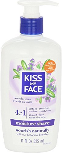Kiss My Face Moisture Shave, Lavender & Shea 11 oz (Pack of 10)
