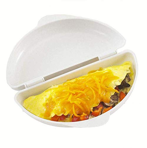 Fast Breakfast Egg Cooker Pan-Multifunctional Microwave Omelet Cooker Pan-Breakfast Eggs Omelette Steamer -Home Kitchen Gadgets Tools 11.5215CM(4.538.27 1.96 inch)