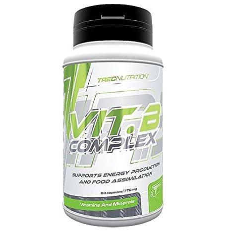 Trec Nutrition Vitamin B Complex, Complejo de Vitamina B - 60 cápsulas: Amazon.es: Salud y cuidado personal