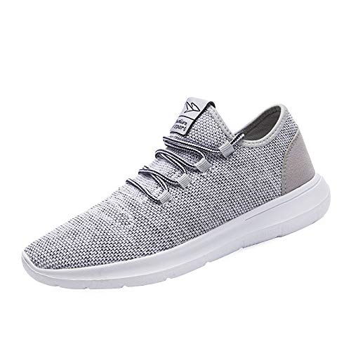 Srenket Mens Casual Athletic Sneakers Comfortable Running Shoes Light Tennis Zapatos Footwear for Men Walking Workout Gray45