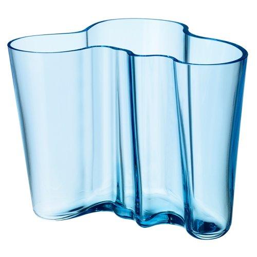 Iittala Aalto 6-1/4 Glass Vase, Light Blue - Iittala Aalto Flower Vase