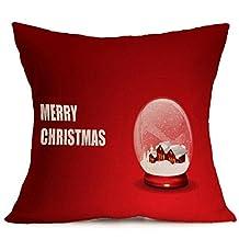Hot New Christmas Cotton & Linen Pillowcases,HighpotChristmas Pillowcases All Kinds of Christmas Pattern Pillow Cushion (O)