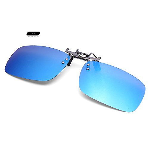Clip On Flip Up Polarized Sunglasses by AUUS Frameless Rectangle Lens - You In Put Any Prescription Frames Can Lenses