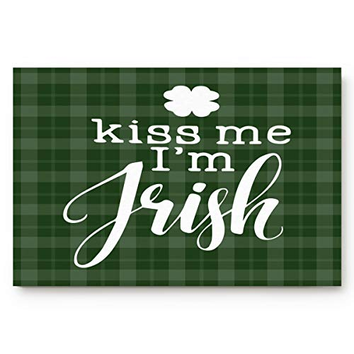 OxOHome St. Patrick Day Door Mats Cover Entrance