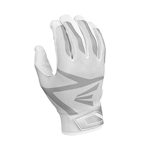 Easton Z3 Hyperskin Batting Gloves, White, Large